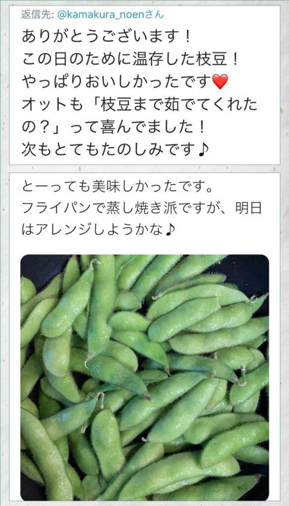 かまくら農園の枝豆通販の評判